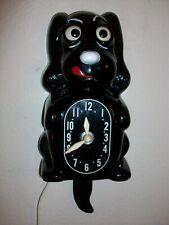 Vtg 1950s Klocker Spaniel Dog Eyes Tail Move Similar Kit Cat Novelty Wall Clock
