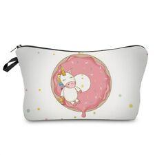 donut unicorn cosmetic bag makeup organiser make up case for brushes etc