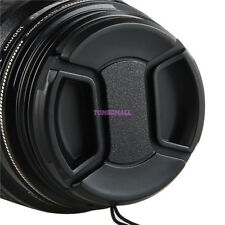 55mm Lens Cap - Snap on Clip on with String for Camcorders Cameras f Canon Nikon