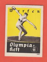 Orig.Guide / Extra PRG   XI.Olympic Games BERLIN 1936 - THROW EVENT`S  !!  RARE