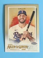 2020 Topps Allen & Ginter Chrome #261 Joey Gallo Texas Rangers
