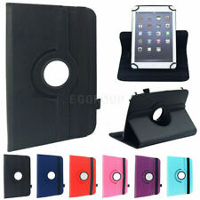 For 7 Inch Android Tablet Case  Universal 360 Rotating Leather Folio Stand Cover