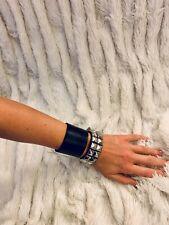 Hot topic Leather Punkrock studded Bracelet NWT M/L