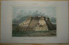 1843 print TEOCALLI PYRAMID, TEHUANTEPEC, OAXACA, MEXICO (#8)