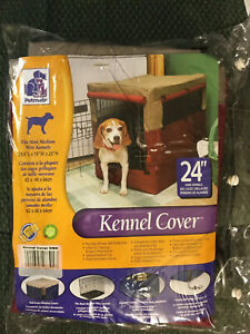 "Indoor Outdoor 24"" Heavy Duty Dog Kennel Cover - Cage Protection Brand New!"