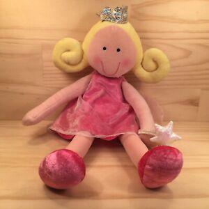 "PHOEBE THE FAIRY ""Pink"" Beautiful Girls Plush Princess Doll with Storage Pocket"