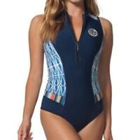 Rip Curl G Bomb S/LESS BIKINI SPRING Womens Springsuit Wetsuit New - WSP7MW Blue