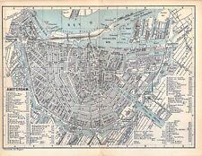 Amsterdam um 1900 historische alte Stadtplan map