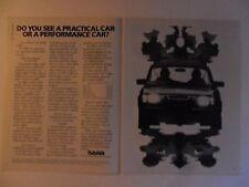 1983 Print Ad SAAB Car Automobile ~ Practical Performance Car Rorschach Test