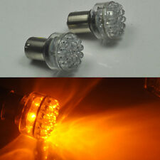 2pcs 24 LED 6V Yellow/Amber Car Bulb 1156 ba15s Turn Signal Light AC/DC P21W 382