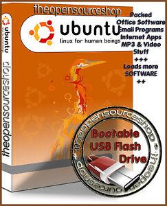 Ubuntu Linux 19.04 Disco Dingo 128GB USB 3.0 Live Boot/Startup Flash Drive