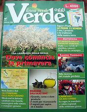 1998 RIVISTA 'LINEA VERDE' ANNO 1- NUMERO 1 AGRICOLTURA, DAL PROGRAMMA TV