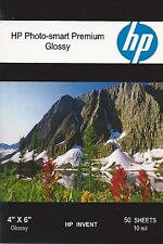 HP Photo-smart Premium 4 X 6 Gloss Photo Paper~100 ct~Borderless~WOW~COOL