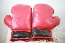 Vintage Macgregor Boxing Gloves Professional Red Lace Up Fighting