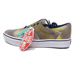 Vans Comfycush Era Blotched Tie Dye Mens 13 Skate Shoes New Purple Yellow