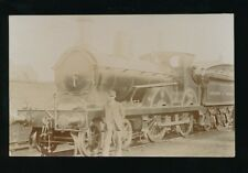 Railway L&Y Lancashire & Yorkshire loco #1005 and crew RP PPC by Pouteau