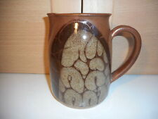DIANA WORTHY CRICH POTTERY LARGE BROWN TREES JUG