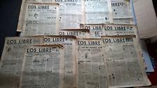 """LOT DE 15 ANCIENS JOURNAUX  """" L'OS LIBRE """"  ANNEE 1946*"""