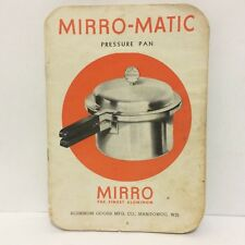 Vintage Micro Matic Pressure Pan Instruction Manual 1945 Ephemera