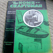 RARE 1936 HOME CRAFTSMAN magazine WOODWORKING PLANS projects VINTAGE workshop