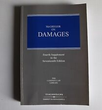 McGREGOR ON DAMAGES 4th Supplement To The Seventeenth Edition. Law
