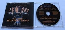 The three Musketeers-All For Love-Bryan Adams, rod stewart, sting mcd maxi CD
