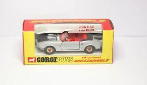 Corgi 343 Pontiac Firebird Red Spot Wheels In Its Original Box - Vintage Model