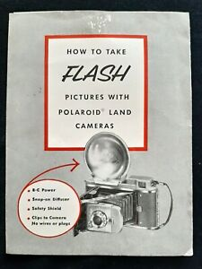 """1950's Polaroid Land Camera Guide - """"How to take Flash Pictures"""" - Cambridge, MA"""