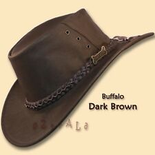 ●oZtrALa● Hat BRUMBY Buffalo Leather Australian  Mens Akubra-type COWBOY Outback