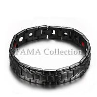 Top Quality FAMA High Polished Black Stainless Steel Bracelet New