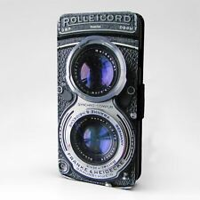 For Apple iPod Touch Flip Case Cover Rolleicord Vintage Camera - A842