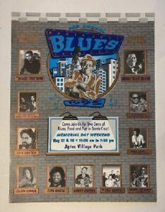 Santa Cruz Blues Festival Concert Poster 1995