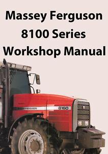 MASSEY FERGUSON 8100 Series TRACTOR WORKSHOP MANUAL