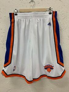 ADIDAS NBA SWINGMAN SHORTS NEW YORK KNICKS WHITE MEN'S SIZE L