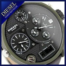DIESEL MEN'S PREMIUM COLLECTION 4 TIME ZONE LEATHER WATCH DZ7250
