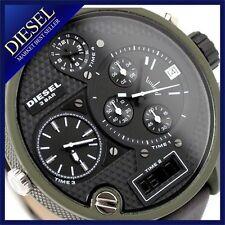 DIESEL MEN'S  4 TIME ZONE LEATHER WATCH DZ7250
