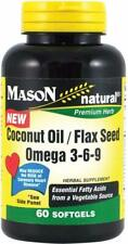 Coconut Oil & Flax Seed Omega 3-6-9 by Mason Naturals, 60 softgels 1 pack