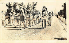 Native Americans Indian Band Wolf Point Bridge MT, real photo postcard.