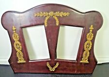Antique Art Nouveau Jugendstil  Wood w/ Brass family  Picture Frame Austria