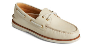 Sperry Gold Cup A/O 2-EYE Soft Cream Boat Shoe Men's US sizes 7-15/NEW!!!