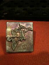 Vintage Tandy Craftool 2D/3D stamp #8202 Pair of Flying Ducks