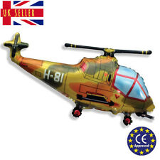 JUMBO Military Helicopter Army RAF Jet Plane CE Birthday Foil Balloon Helium