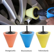 1X Burnishing Foam Sponge Polishing Cone Shaped Car Wheel Tool Car Cleaning