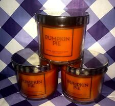 LOT OF 3 PUMPKIN PIE 4OZ BATH AND BODY WORKS SCENTED CANDLES