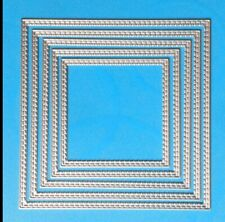 Double Inside Stitched Square Craft Die. Cards,Scrapbooking. Uk Seller