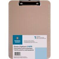 Business Source Transparent Plastic Clipboard, Smoke - 1 Each (BSN01870)