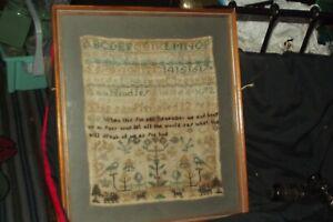 ANTIQUE GEORGIAN SAMPLER ANN HINDLEY   AGE 10  1810