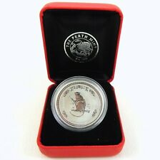 2016 YEAR OF THE MONKEY Silver 1/2 oz Coin in Case