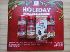 6-Pack McCormick Pumpkin Pie Spice, Almond Extract, Nutmeg Allspice, Poultry set