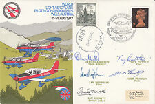 AD30ch World Light Aeroplane Championships. Flown at Championship Team Signed 5